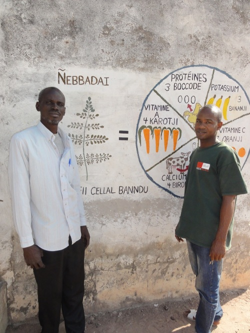 Samba, a volunteer health worker for a nearby village, and Sadu, who works at the health post in Dabo